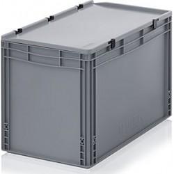 Transportbox mit Deckel 80x60x33,5 - grau